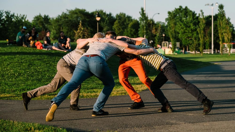 Frictions | Jonathan C. Rousseau, Sébastien Chalumeau, Philippe Meunier, Antoine Turmine | Photo : Vitor Munhoz